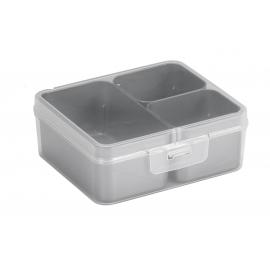 Jaotuskarp 3 jaotuskarbiga  läbipaistev/hall