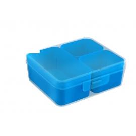 Jaotuskarp 3 jaotuskarbiga  läbipaistev/sinine