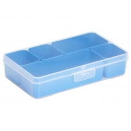 Jaotuskarp 5 jaotuskarbiga  läbipaistev/sinine