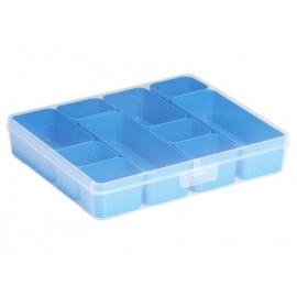 Jaotuskarp 10 jaotuskarbiga  läbipaistev/sinine