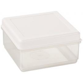 Toiduainete konteiner 0,7L läbipaistev/valge