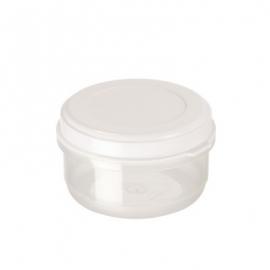 Ümmargune toiduainete konteiner 0,6L läbipaistev/valge