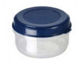 Ümmargune toiduainete konteiner 0,6L läbipaistev/sinine