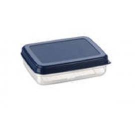 Toiduainete konteiner 0,9L läbipaistev/sinine