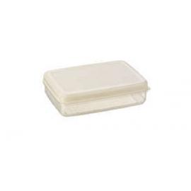 Toiduainete konteiner 0,9L läbipaistev/valge