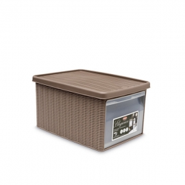 """Коробка с передним открытием""""Elegance"""" M светло-коричневая"""