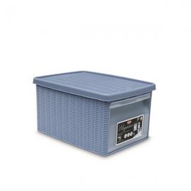"""Коробка с передним открытием""""Elegance"""" M светло-синяя"""